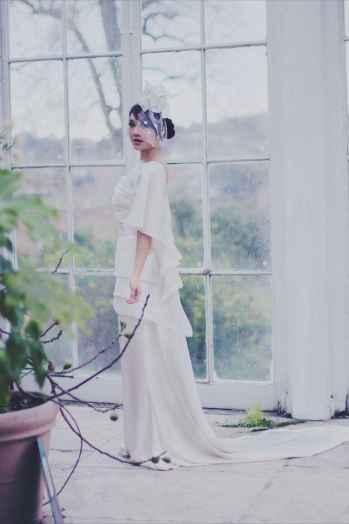 Origami Inspired Wedding Dress Photoshoot with Hattie Ellis