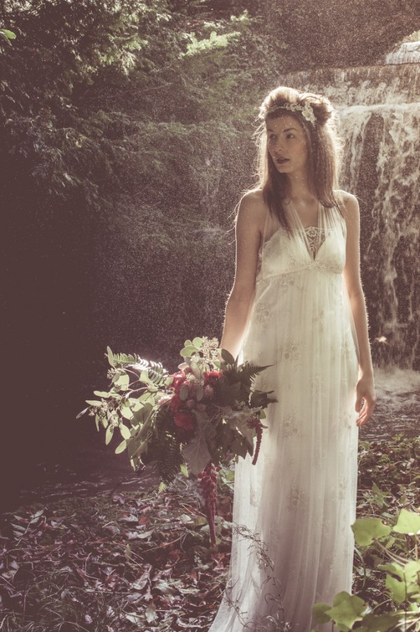 Marguerite - Beaded Lace Dress with Silk Tulle Overlay