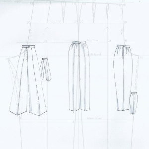 Pattern cutting for trousers