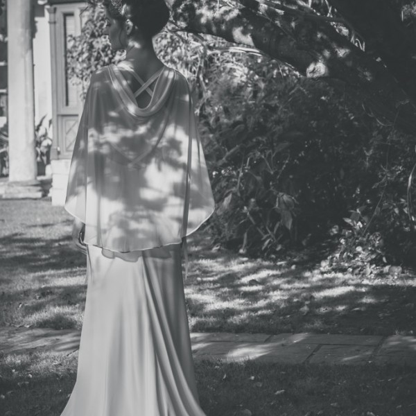 Eve wedding dress with cape