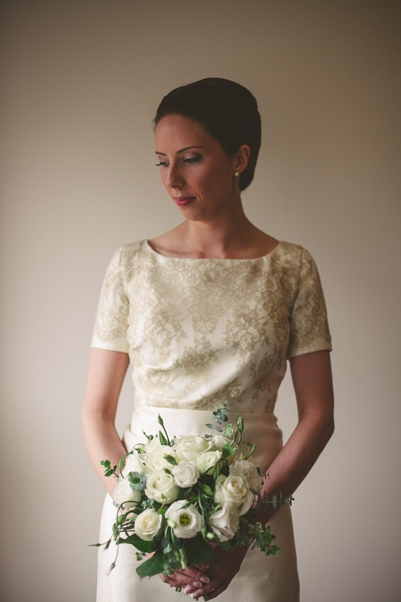 Julia's bespoke wedding dress