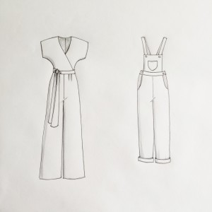 Jumpsuit and dungarees drawing